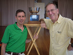 Greg Chaffee and David Oakley pose with the Weiss Trophy