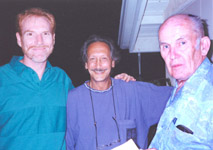 Bill Logan with Ed Layton and an unidentified person