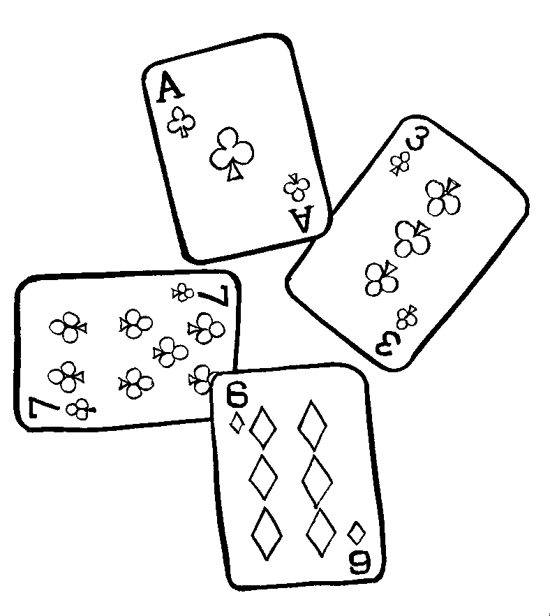 Playing card coloring pages coloring pages for Coloring pages cards