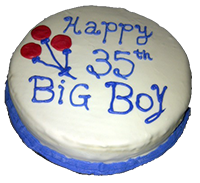 Happy 35th Big Boy cake