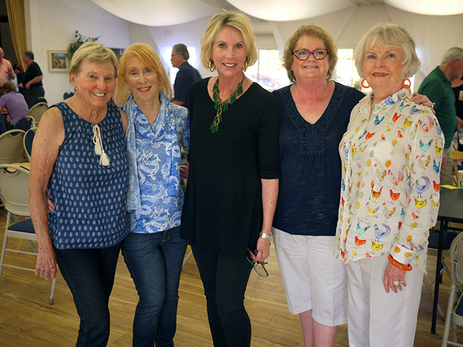 Sydney Jones, Ann Manaster, Judy Elsberry, Debbie Hedenberg, and Judy Hunter